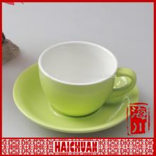 11 oz de sublimación de color taza de café de cerámica platillo