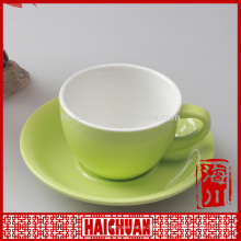 11 oz color sublimation ceramic coffee cup saucer