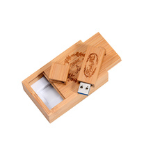 Square USB Flash Drive With Wooden Box