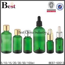 bouteille d'huile essentielle de verre liquide, bouteilles de compte-gouttes de verre liquide, bouteille vide