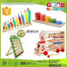 2016 venda de brinquedos de madeira brinquedos de madeira brinquedos coloridos ábaco mufuncional ábaco