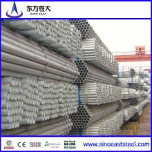 Tubo revestido de zinco