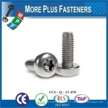 Fabriqué en Taiwan Type Z Entraînement Plat Head Zinc Finish Steel Trilobular Thread Rolling Screw