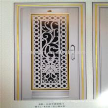 Niedrige Preissicherheit Edelstahl Tür Design mit Aluminium Blume