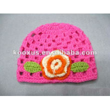 Мода и горячие продажи твердых цветов вязания крючком Hat ребенка / вязание Hat