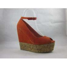 2016 nuevas sandalias de las señoras del peep-toe de la manera del estilo de la manera (HCY03-090)