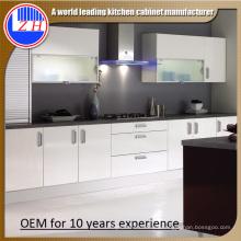 2015 nuevos armarios blancos de la cocina de la laca (zhuv)