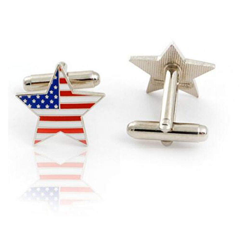 Usa American Flag Star Cufflink