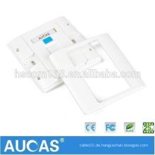 Top Qualität rj45 cat5 Wandplatte Netzwerk Kabel Faceplate