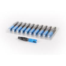 Connecteur rapide fibre optique SC, connecteur rapide en fibre avec pc / apc, connecteur rapide 10pcs / package