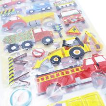 Autocollants de bulle de bande dessinée Transportez les enfants autocollants statiques de décoration de bande dessinée, enfants autocollant de voitures
