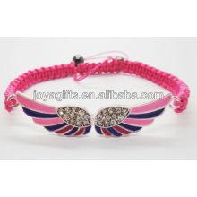 Liga de duas asas com bracelete de diamante