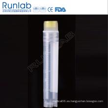 Vial criogénica de rosca interna de 4 ml con sello de arandela de silicona