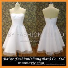2016 без бретелек тюль длиной до колен короткое свадебное платье шаблоны