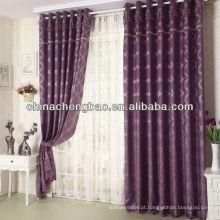 Painéis de cortinas jacquard com cantoneiras e painéis