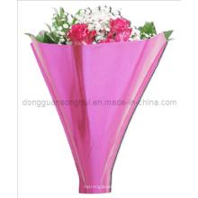 Luva de plástico da flor / manga de plástico colorido da flor