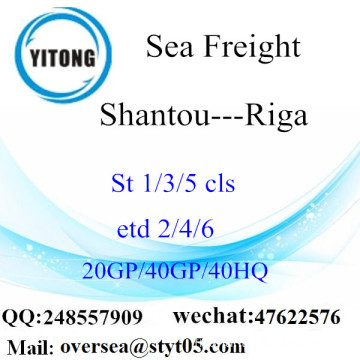 Shantou Port Sea Freight Shipping à Riga