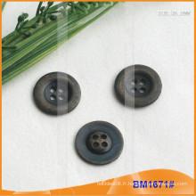 Bouton en alliage de zinc et bouton en métal et bouton de couture métallique BM1671