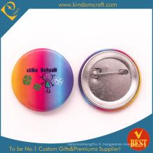 Insigne personnel de bouton de bidon de coutume avec l'iridescence et le logo mignon