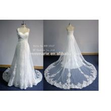 2016 sexy luxury wedding dress new design women's evening dress empire waist train lace wedding dress 2016 new design