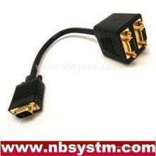 2 Monitor auf 1 Stück VGA Y Splitter Kabel geformt