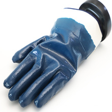 Heavy Duty Fully Nitrile Dipped Hand Gloves With Knit Wrist