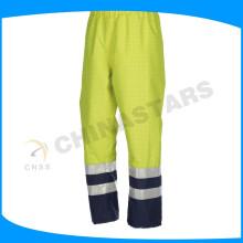 2015 anti-statique pantalon haute vis pantalon réfléchissant pour vêtements de travail