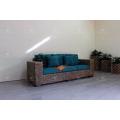 Elegant Indoor Natural Water Hyacinth Sofa Set for Interior Living Set Handmade Weaving