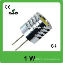 Lampe LED G4 haute puissance 1W CE et ROHS approuvés