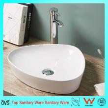 Zeitgenössisches Design Thin Edge Badezimmer Waschbecken Keramikbecken