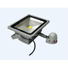 IP65 impermeable al aire libre 50W PIR sensor de movimiento de la luz de inundación LED