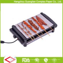 Papier de barbecue de papier de barbecue antiadhésif de ménage