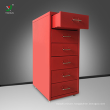 Good price file cabinet metal mobile file storage cabinet with drawer
