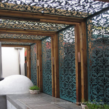 Decorative Laser Cut Home Living Furniture Metal Room Divider / Decorative Metal screen design
