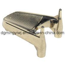 Plaquettes de coulée en alliage de zinc pour piédestal (ZC9001) avec surface en argent fabriquée à Dongguan