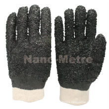 NMSAFETY PVC construction safety rough finished gloves