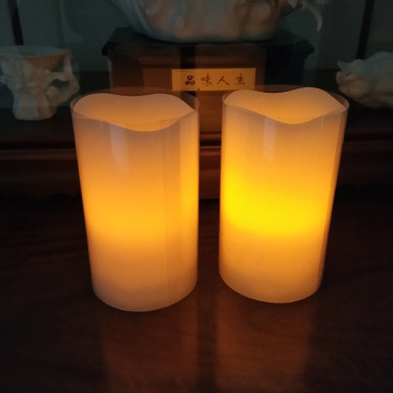 Lilin pilar lilin Flameless LED dengan Remote
