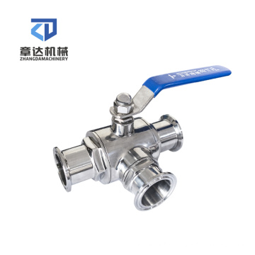 Sanitary ball valve T type stainless steel manual spanner spare parts