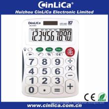 Calculateur solaire à 10 chiffres avec affichage LED allumé