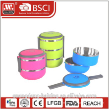Two Layers Plastic Stackable Stainless Steel Lunch Box