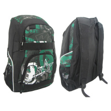 Outdoor Sports Leisure Pattern Travel School Daily Skate Backpack Bag