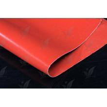 Rote Farbe Silikon beschichtete Fiberglas Stoff Double Sides