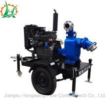 High Efficiency Dewatering Self Priming Sewage Diesel Trailer Pump