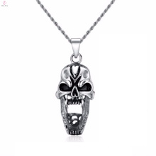 Wholesale Stainless Steel Punk Silver Skull Pendants Necklace
