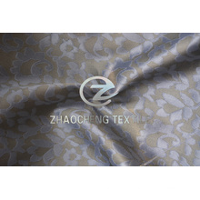 Жаккард из полиэфирной ткани из крученого шифона для женских платьев (ZCFA002)