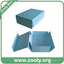 Boîte pliante en carton en papier coloré / Boîtes à cadeaux pliées imprimées