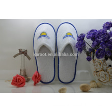 cheap soft personalized close toe chinese embroidered hotel slipper
