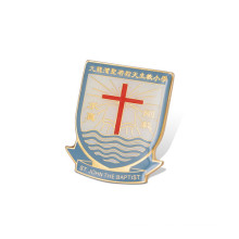 Epoxy-Dripping Lapel Pin, Offset Printed Badge (GZHY-YS-042)