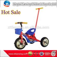 Высококачественная трехколесная велосипедная игрушка, трехколесный автомобиль для малышей с нажимным стержнем