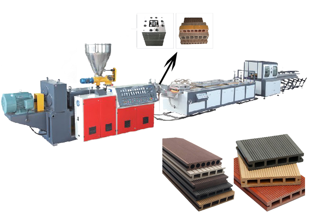 N WPC PE PP extrusion